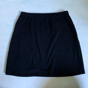 Brandy Melville Black Cotton Black Mini Skirt